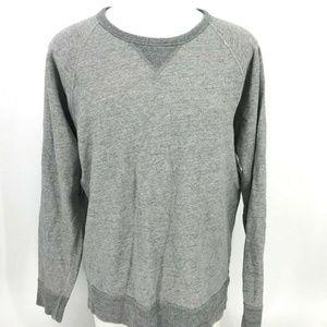 J Crew Solid Sweatshirt Men Size L large Y15